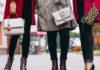 Women Wearing Leather Bag